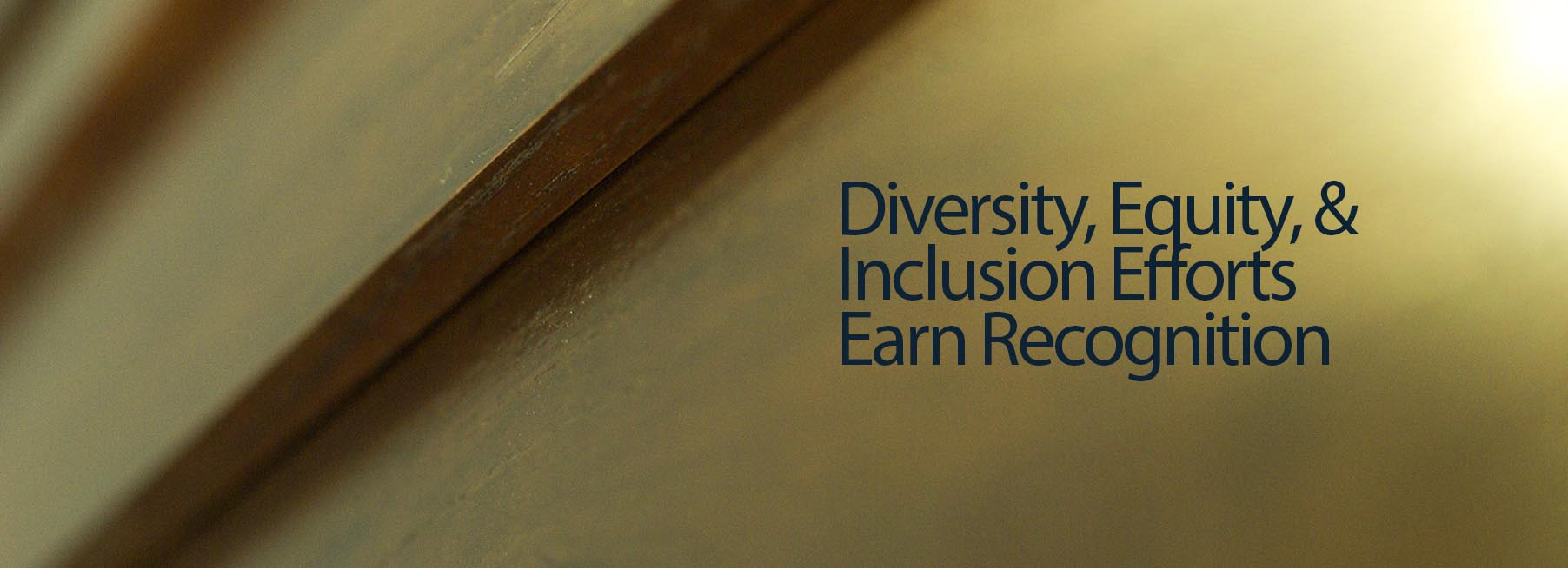 Diversity, Equity, & Inclusion Efforts Earn Recognition